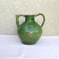 緑釉の陶器-水差し