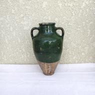 緑釉の陶器-壺