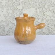 ●南仏の陶器-黄釉:ミルク入れ