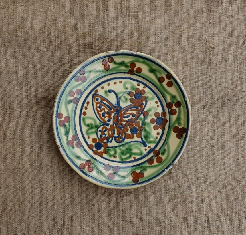 南仏陶器-絵皿