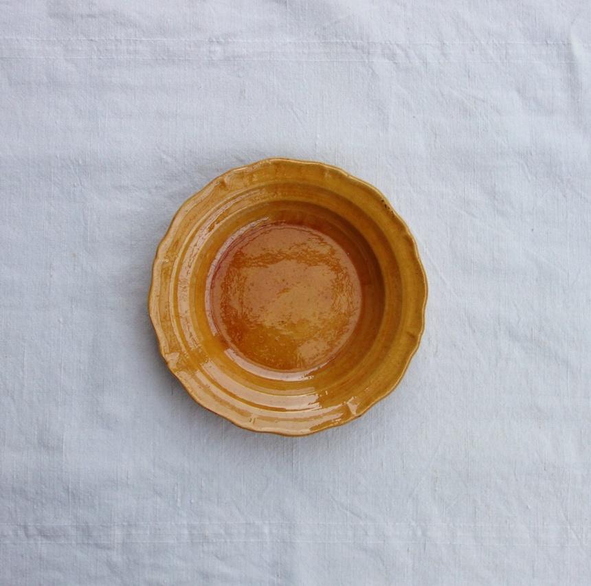 ●南仏の陶器-黄皿(スープ皿)