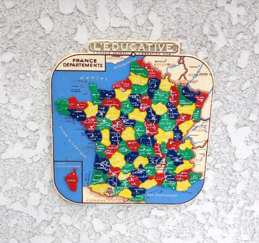 ●フランス地図 / パズル