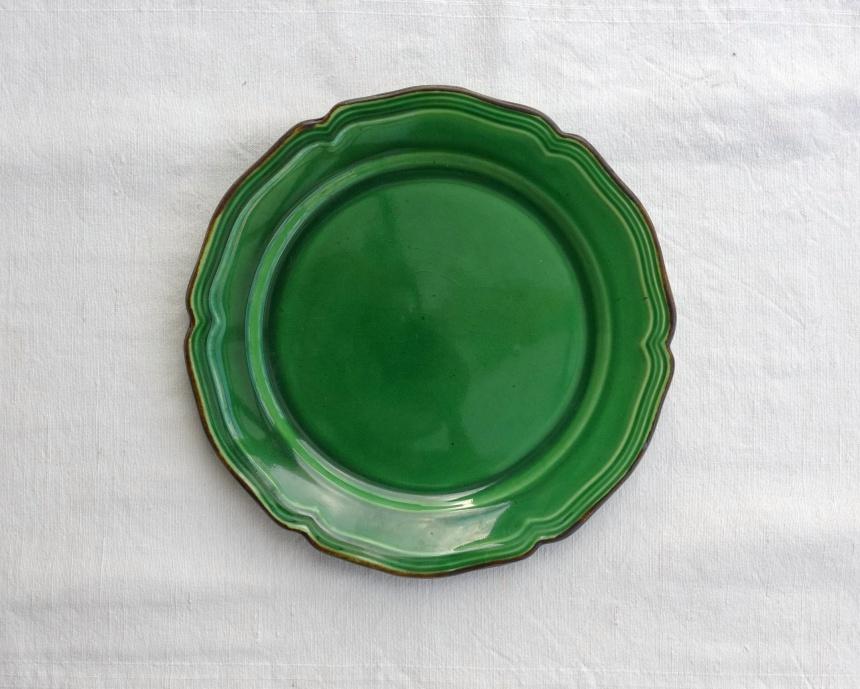 ●南仏の大皿-緑釉