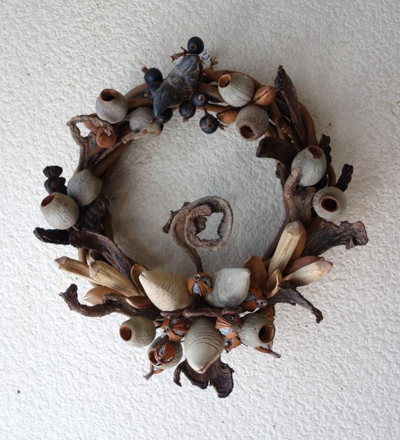 木の実のリース-1