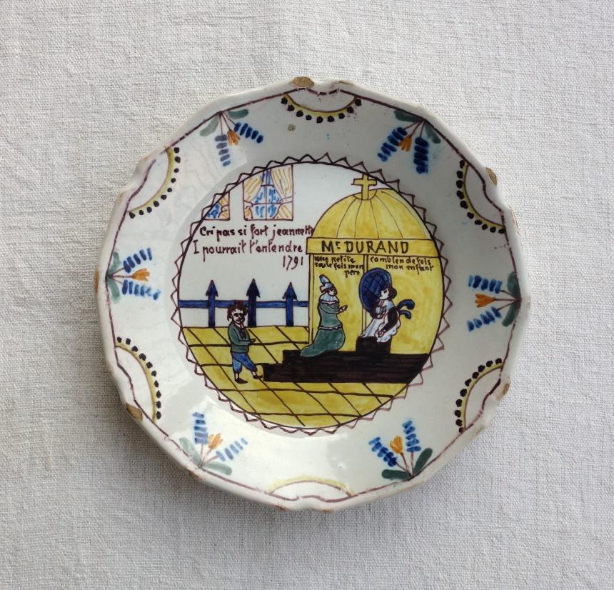 フランスの古道具:お皿/ムスティエ