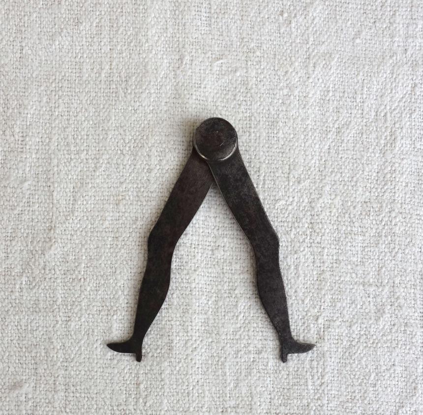 ●フランス古道具:大工・指物師の道具/コンパス