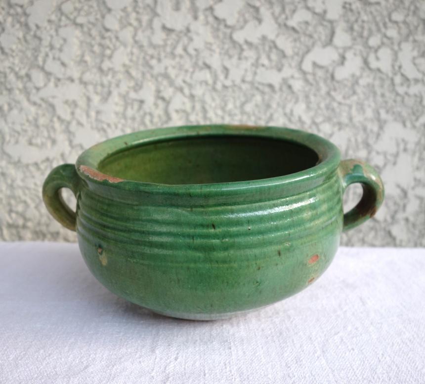●フランスの古道具:料理道具;陶器水切り