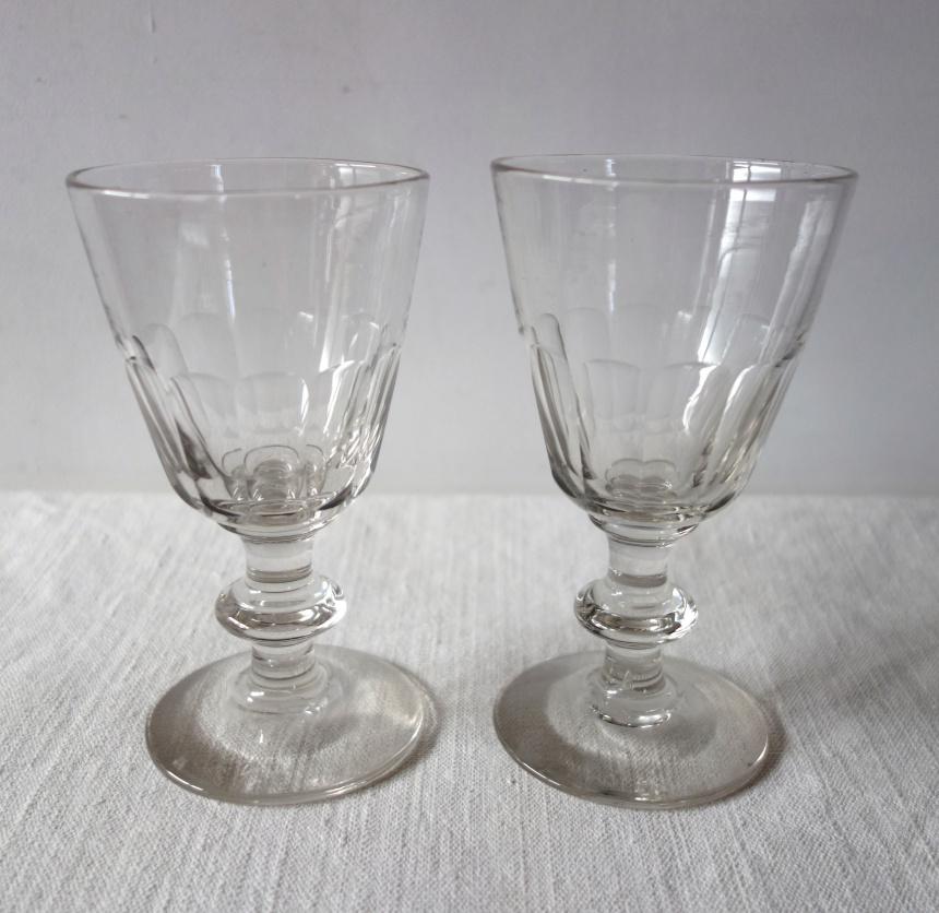 ●フランスの古道具:食卓の道具/ワイングラス・その2