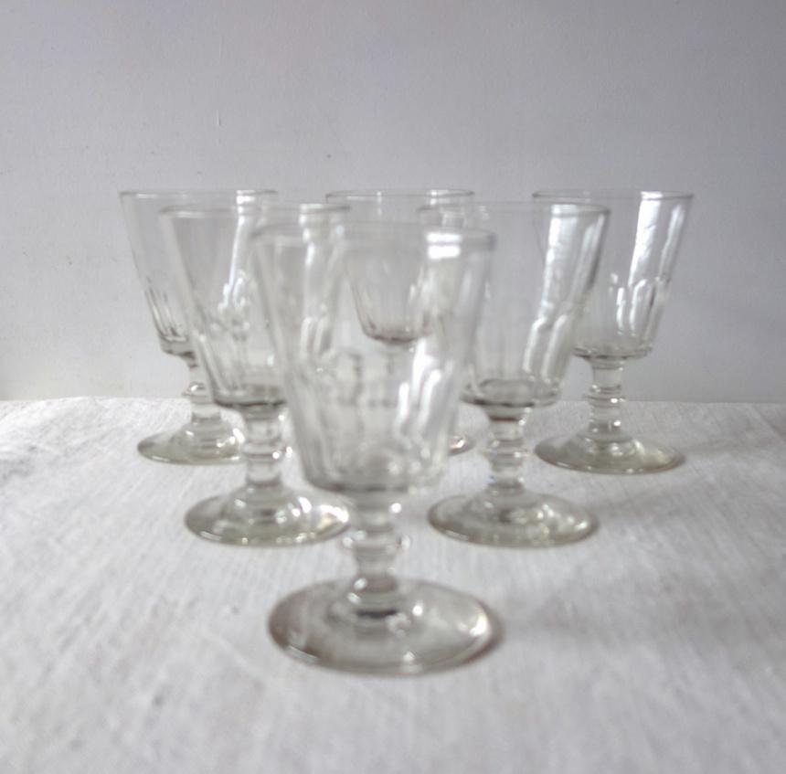 ●フランスの古道具:食卓の道具/ワイングラスその3