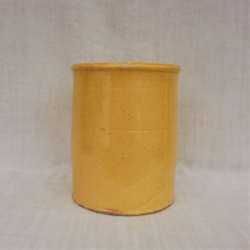 """●フランス古道具 """" R"""" 南仏の陶器-保存容器"""