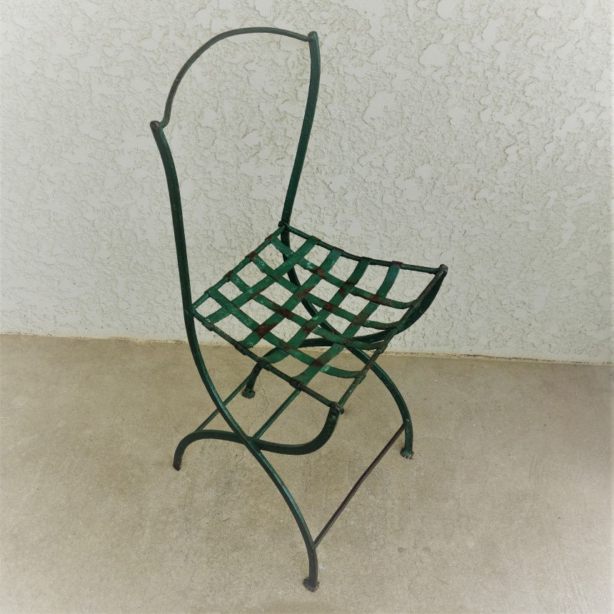 """●フランス古道 """"C"""" 鉄製の椅子"""