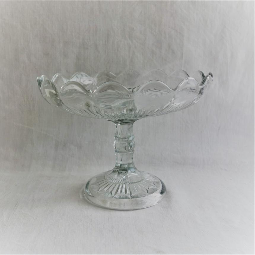 """●フランス古道具 """"G"""" 食事の道具-ガラスの盛皿Ⅱ"""