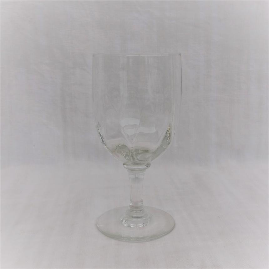 """●フランス古道具 """" V"""" ガラスの道具-ワイングラスⅢ"""