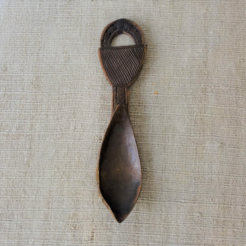 """●フランス古道具""""C"""" 木製匙"""