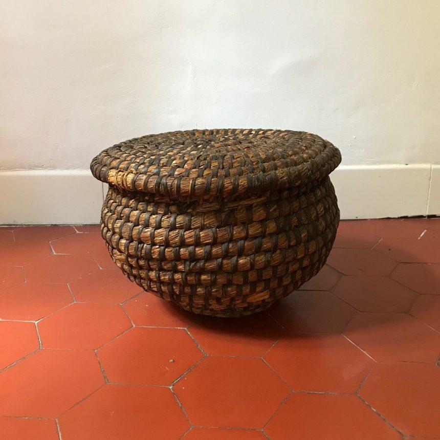 フランス古道具:藁籠